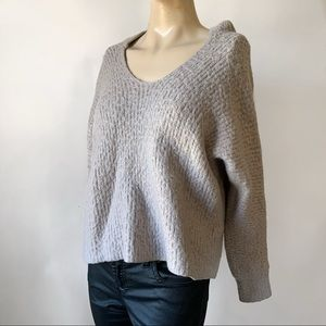 Cropped Soft Thick Sweater Hoodie